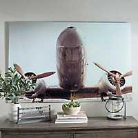 Plane of Yesteryear Glass Art Print