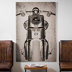 Rustic Motorcycle Glass Art Print