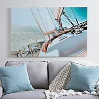 Sailing Away Glass Art Print