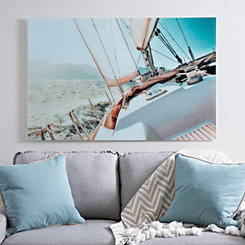 Sailing Away Glass Art Print