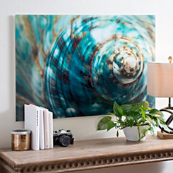 Spiral Shell Glass Art Print