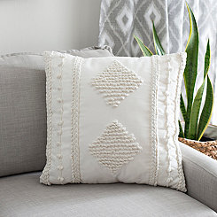 Ivory Janika Embroidered Pillow