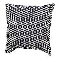 Navy Woven Diamond Pillow