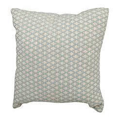 Aqua Woven Diamond Pillow