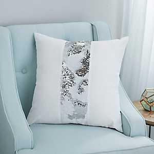 Bolton Silver Sequins Pillow