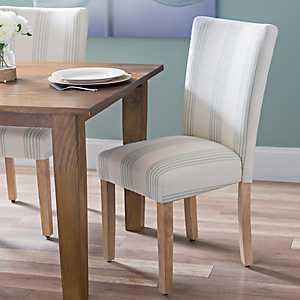 Seafoam Stripe Parsons Chair