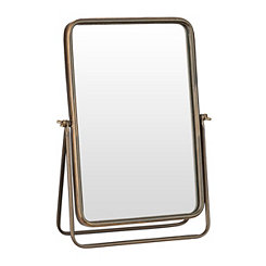 Iron Framed Tabletop Mirror