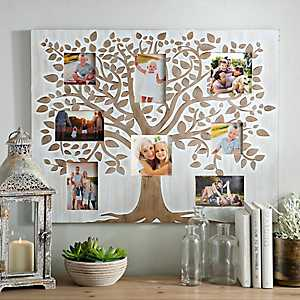 Wood Carved Tree Collage Frame