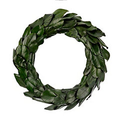 Preserved Magnolia Leaf Wreath, 24 in.