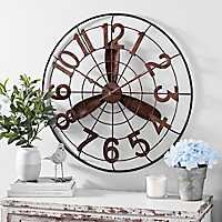 Vintage Rustic Fan Clock