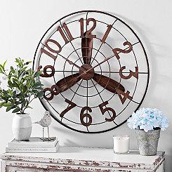 Vintage Rustic Fan Clock