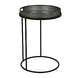 Galvanized Tray Top C-Table