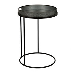 Galvanized Tray Top C-Table