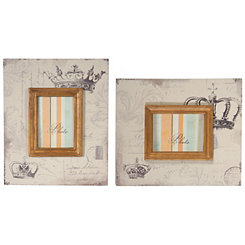 Gray Crowns Picture Frame Set, 4x6