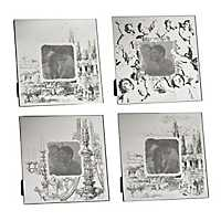 Cherubs and Landscapes Picture Frames, Set of 4