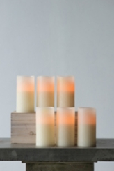 Ivory 6 in. LED Pillar Candles, Set of 6
