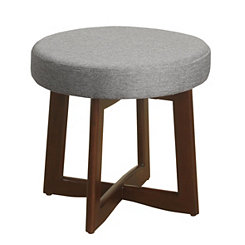 Gray Cross-Legged Mini Stool