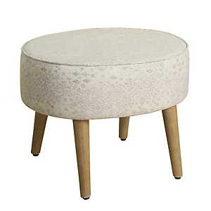 Soft Cream Oval Stool