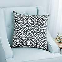 Gray Lexi Jacquard Pillow
