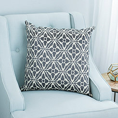 Gray Lexi Jacquard Pillow
