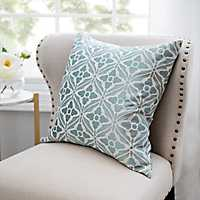 Aqua Lexi Jacquard Pillow