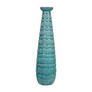 Blue Skinny Fountain Ceramic Vase