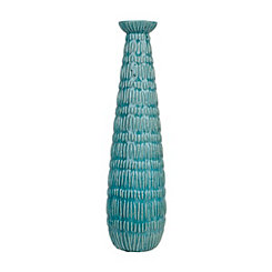 Blue Skinny Fountain Ceramic Vase