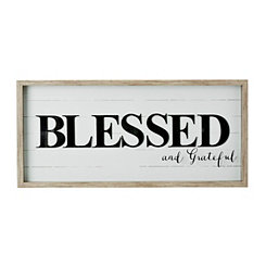 Blessed Shiplap Shadowbox