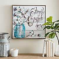 Family Gathers Here Framed Canvas Art Print