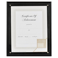 Black Bolted Document Frame, 8.5x11