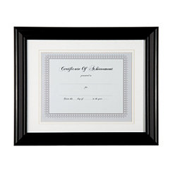 Black Matted Document Frame, 11x14