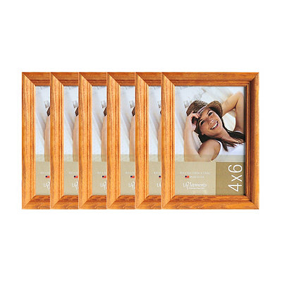 Natural Wood 6-pc. Picture Frame Set, 4x6
