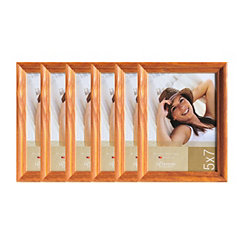 Natural Wood 6-pc. Picture Frame Set, 5x7