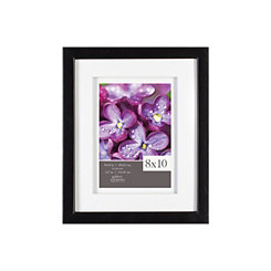 White Airfloat Mat Black Picture Frame, 8x10