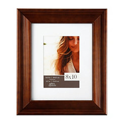 White Mat Walnut Slant Picture Frame, 8x10