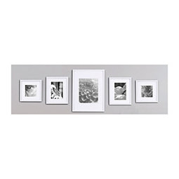 f42dc5ba3798 White Wood 5-pc. Gallery Wall Picture Frame Set