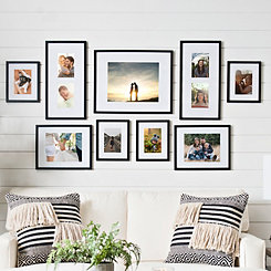 Black 9-pc. Matted Gallery Wall Picture Frame Set