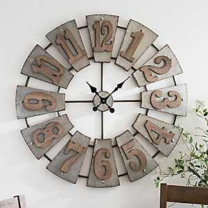 Morgan Galvanized Metal Clock