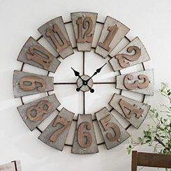 Morgan Galvanized Metal Clock