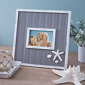 Gray Beadboard Starfish Picture Frame, 4x6