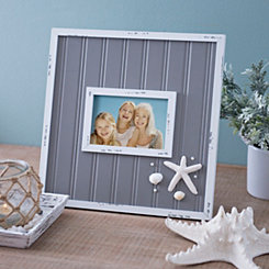 Gray Beadboard Starfish Picture Frame, 4x6