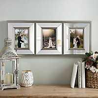 Metallic Mirrored 3-Opening Collage Frame