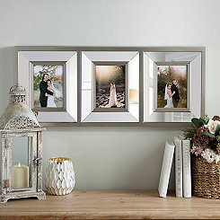 Metallic Mirrored 3-Opening Collage Frame