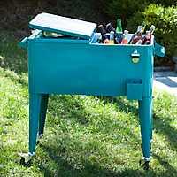 Turquoise Retro 80-qt. Patio Cooler