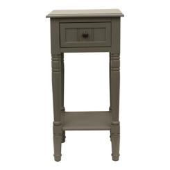 Gray Eased Edge Single Drawer Side Table