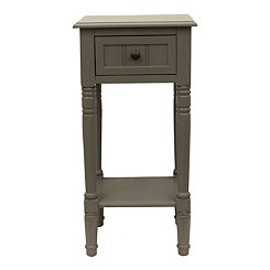 Gray Eased Edge Single Drawer Side Table