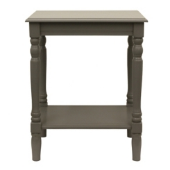 Gray Eased Edge Accent Table