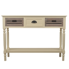 Ivory Melody Natural Drawer Console Table