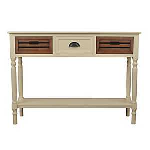 Ivory Melody Chestnut Drawer Console Table