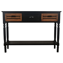 Black Melody Chestnut Drawer Console Table